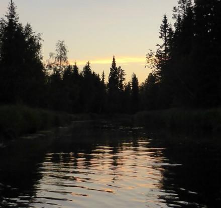 Solnedgång, Röån